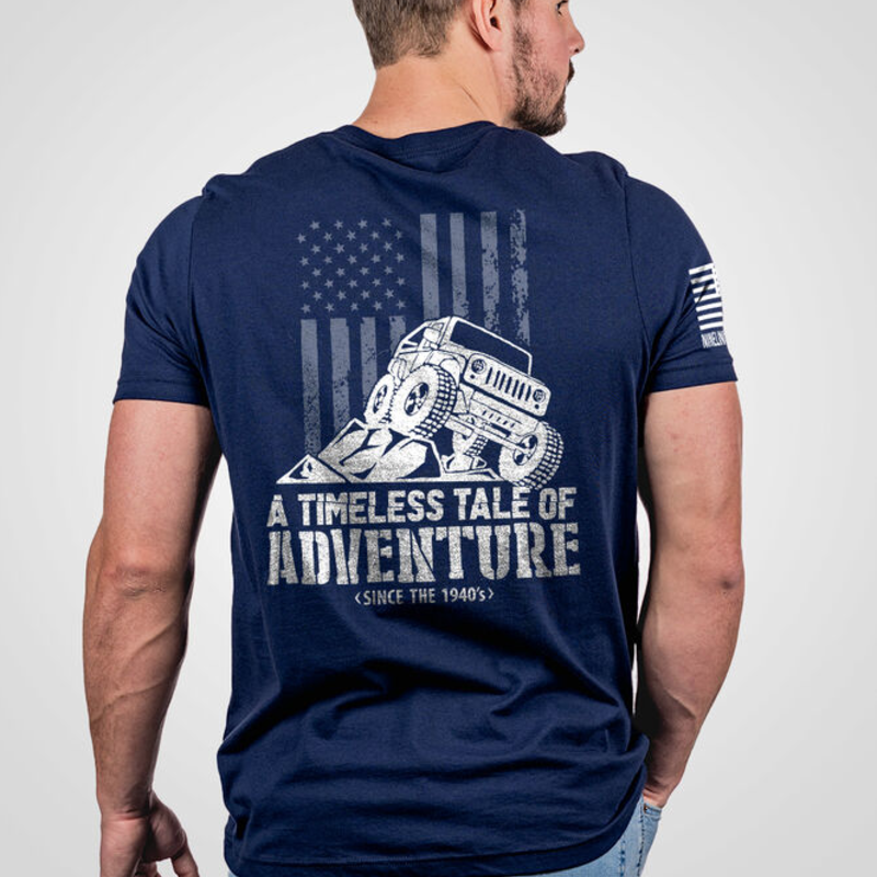 NINE LINE Men's Nine Line Navy Jeep Adventure Tee (S-3XL)