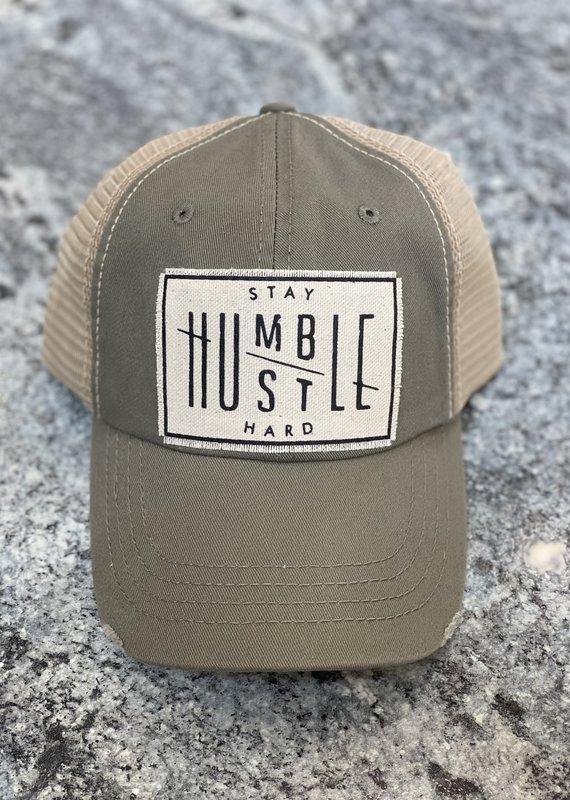 Vintage Life Stay Humble Hustle Hard Distressed Hat