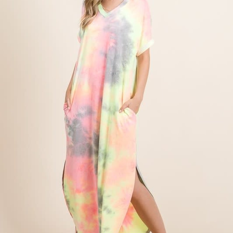 GeeGee Bright Tie Dye Maxi with Pockets (S-XL)
