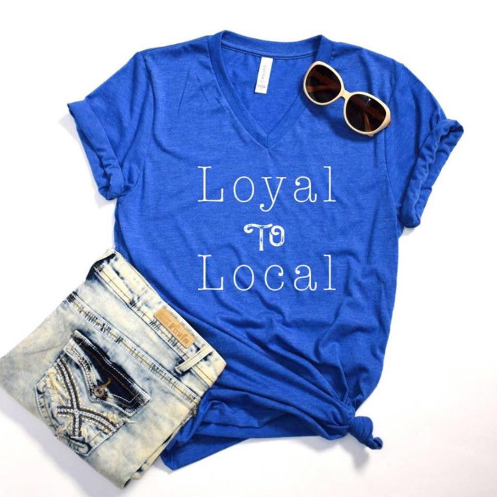 Bella Canvas Loyal to Local Royal Blue Tee (S-3XL)