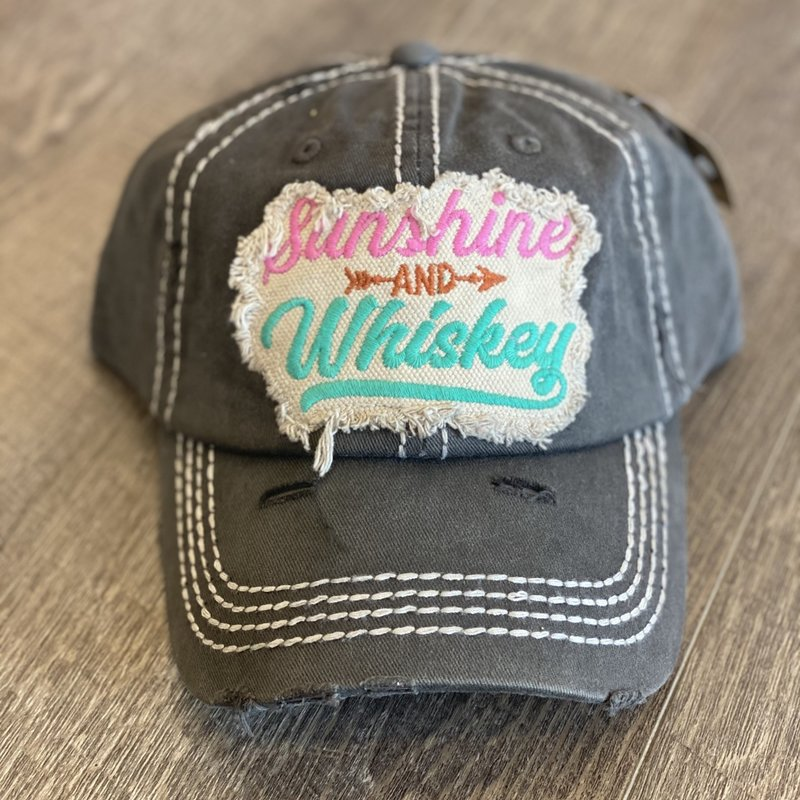 Your Fashion Wholesale Sunshine & Whiskey Charcoal Hat