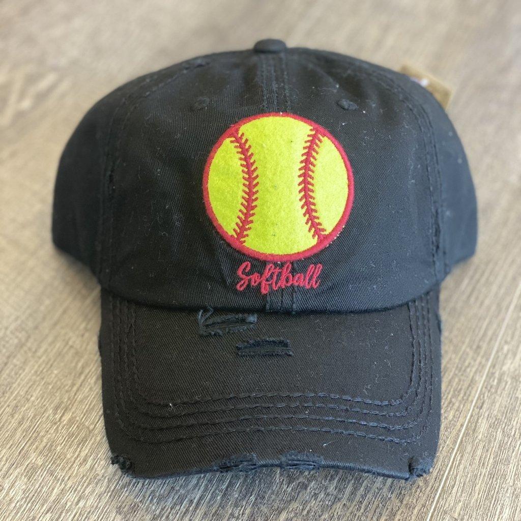 Your Fashion Wholesale Black Softball Hat