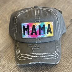 Your Fashion Wholesale Mama Tie Dye Charcoal Hat