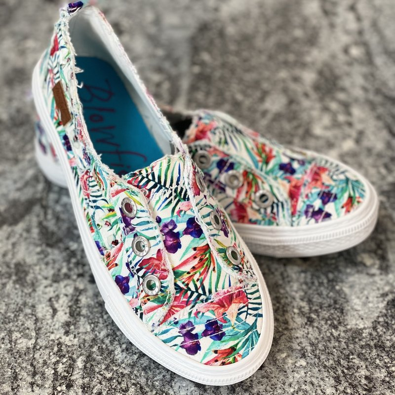 Blowfish White Hibiscus Blowfish Shoes (6-11)