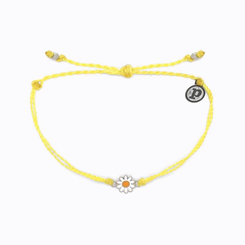 Puravida Pura Vida Yellow Daisy Bracelet