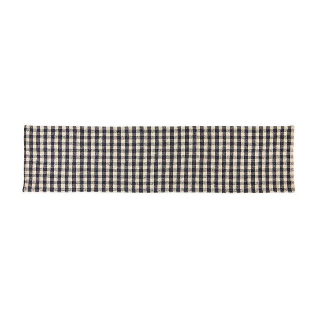 Mud Pie Mud Pie Navy Check Table Runner