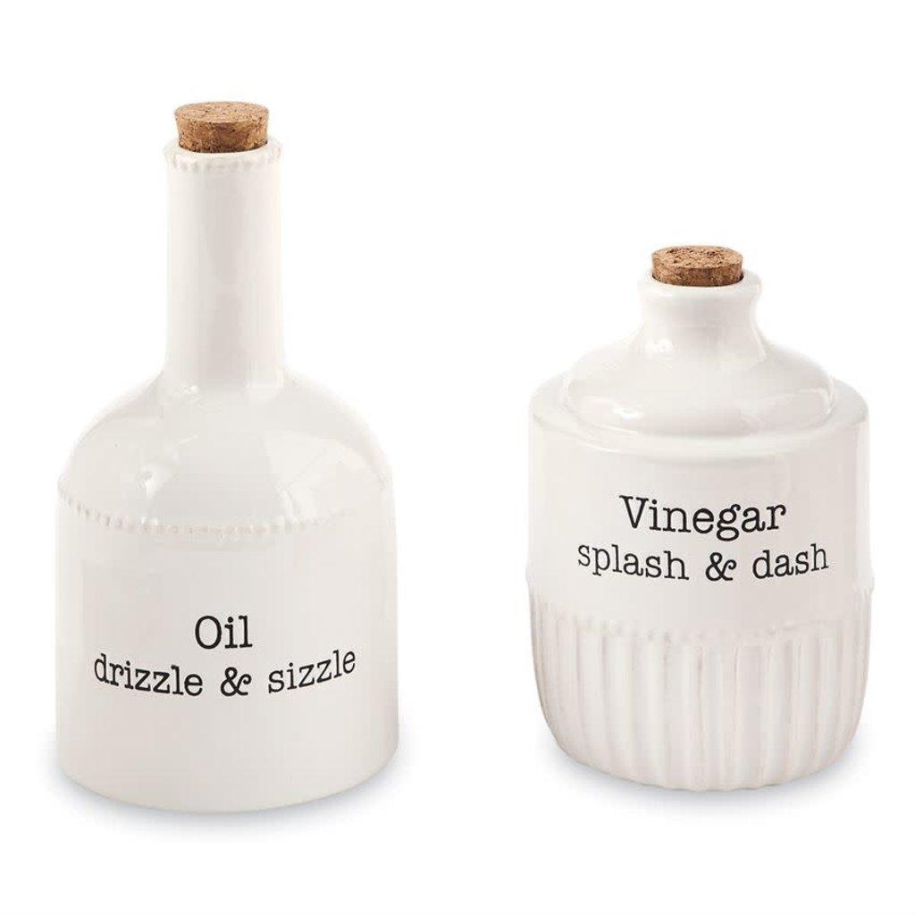 Mud Pie Mud Pie Circa Stacked Oil & Vinegar Decanter