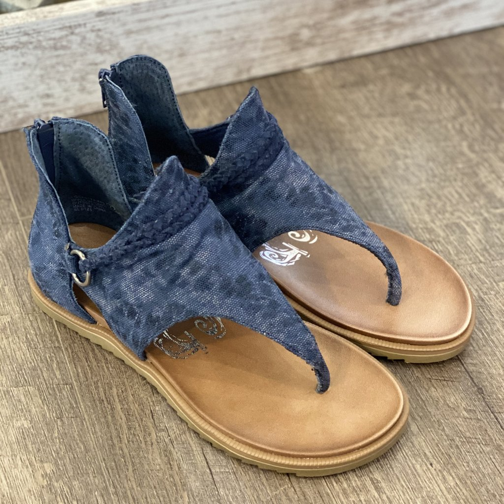 Very G Very G Sariah Navy Leopard Sandals (6-11)