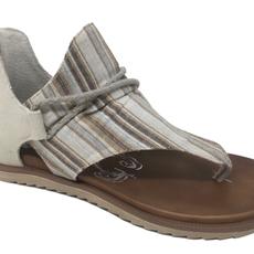 Very G Very G Dakota Cream Stripe Sandals (9-11)