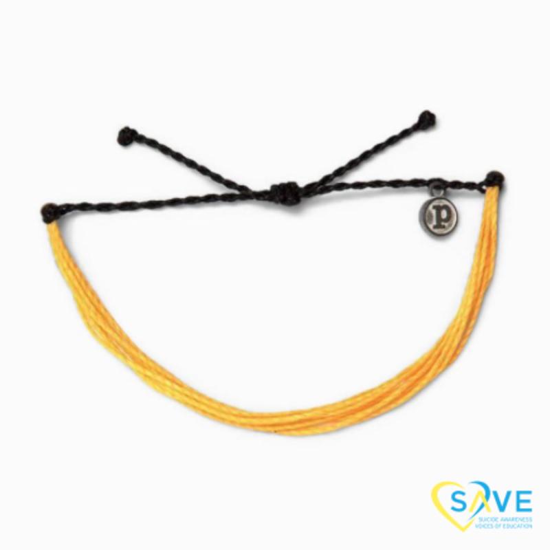 Puravida Pura Vida Suicide Prevention Awareness Yellow Bracelet