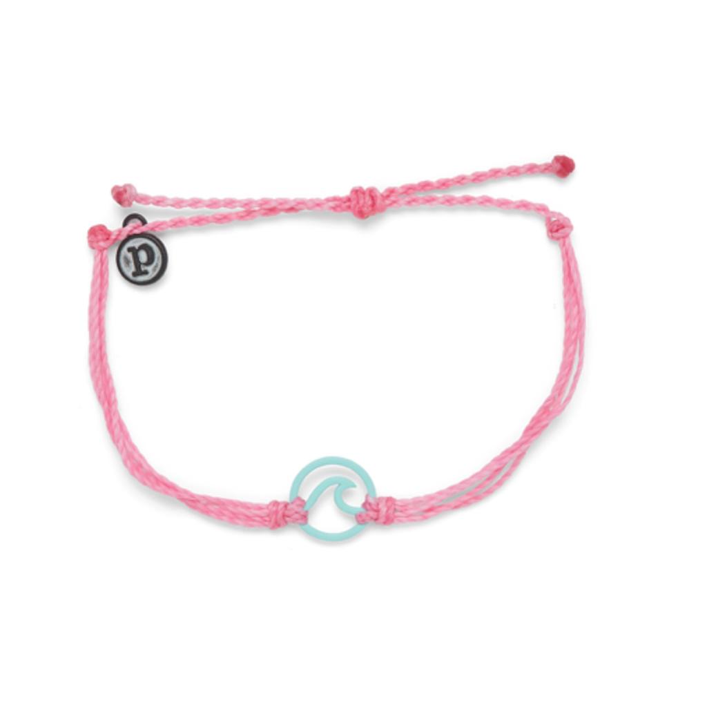Puravida Pura Vida Aqua Pink Enamel Wave Bracelet