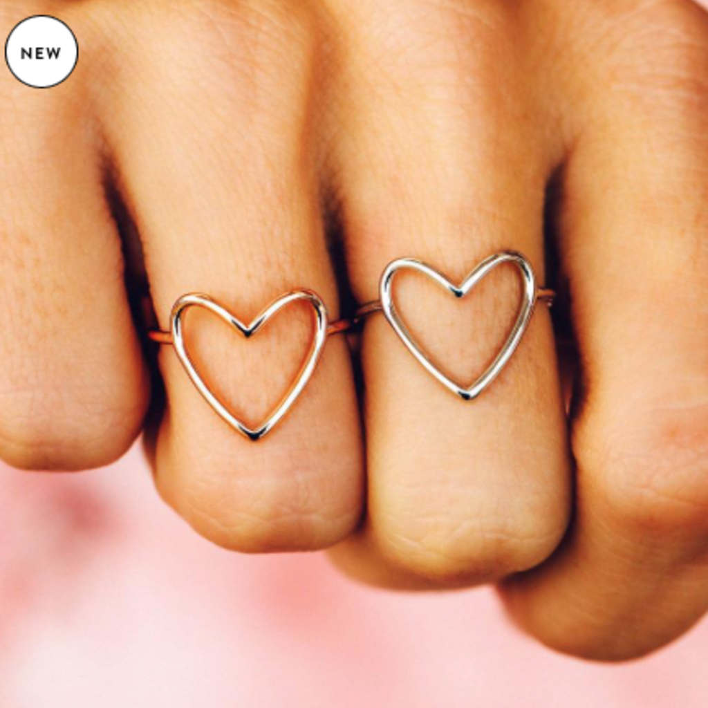 Puravida Pura Vida Big Heart Rings (Silver or Gold)