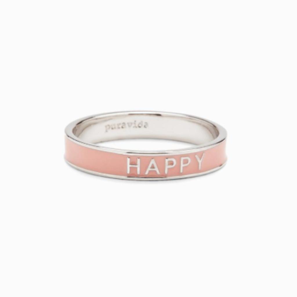 Puravida Pura Vida Pink Happy Ring