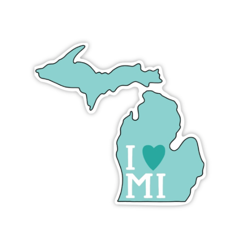 Michigan Bests I Heart Michigan Decal