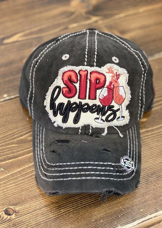 Bag Boutique Black Sip Happens Hat