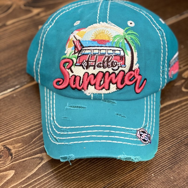 Bag Boutique Turquoise Hello Summer Hat
