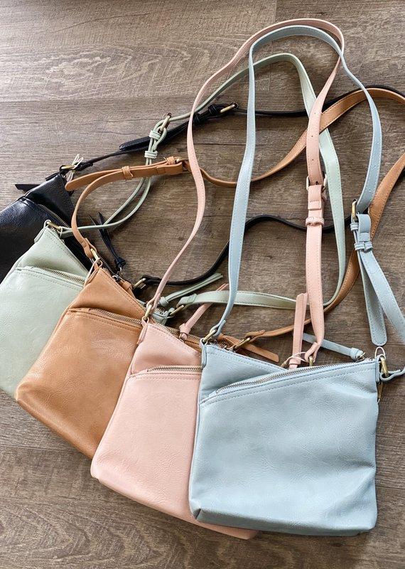 Bag Boutique Double Zip Shoulder Cross Body (4 Colors)