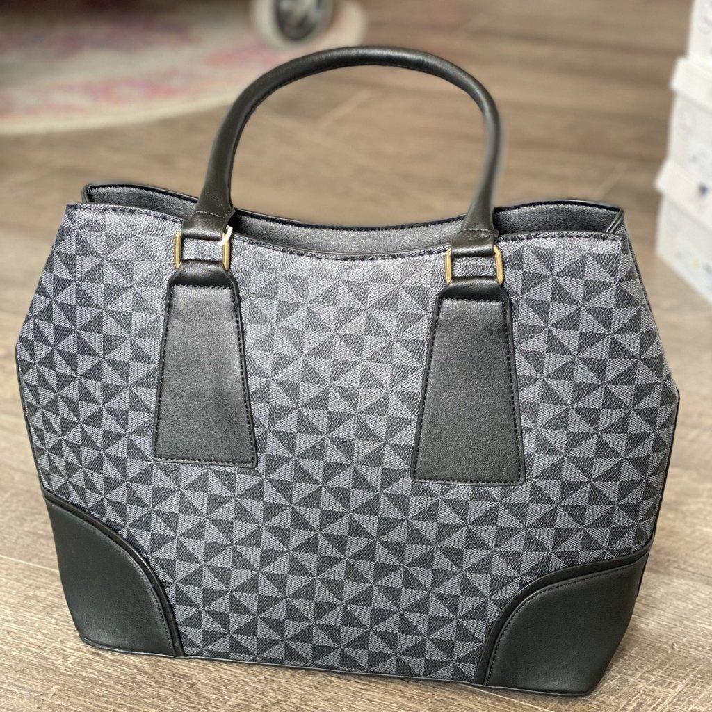 Bag Boutique Black Inspired Satchel with Wallet