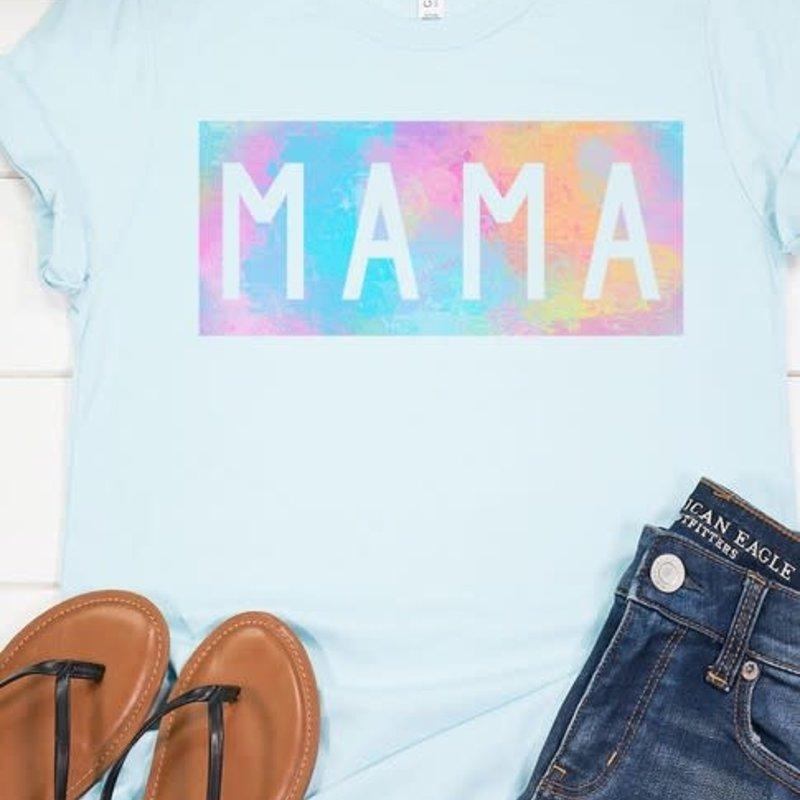 Bella Canvas Ice Blue Mama Tee (S-3XL)