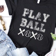 Bella Canvas Heather Black Play Ball Tee (S & 3XL Only)