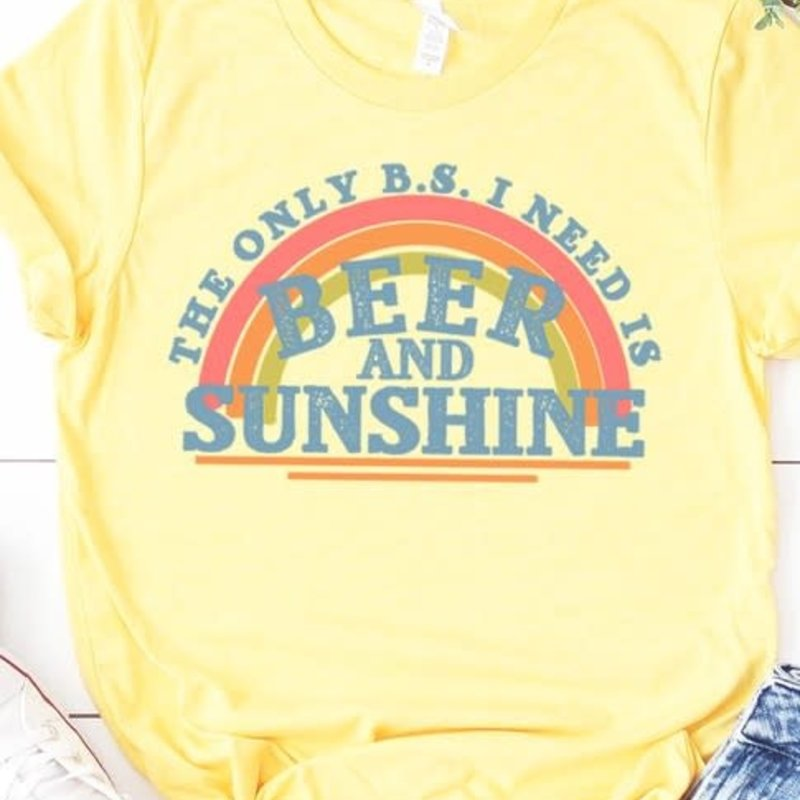 Bella Canvas Yellow BS Beer & Sunshine Tee (S-3XL)