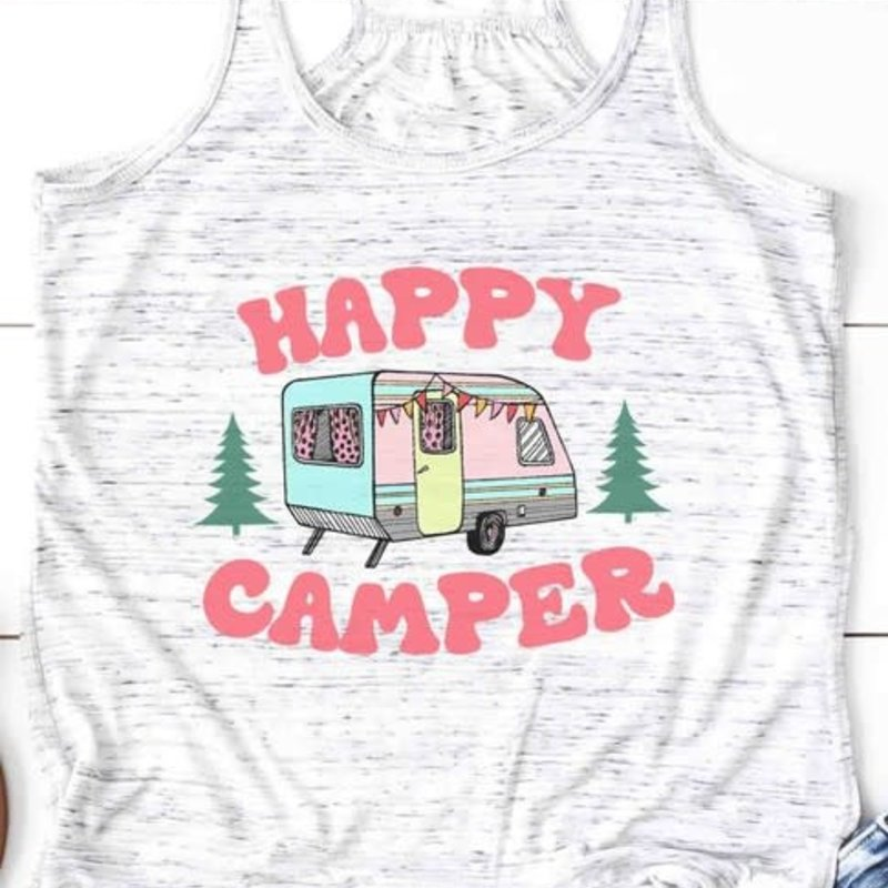 Bella Canvas Happy Camper Retro Racerback Tank (Small Only)