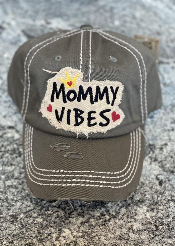 Hana Gray Mommy Vibes Vintage Hat