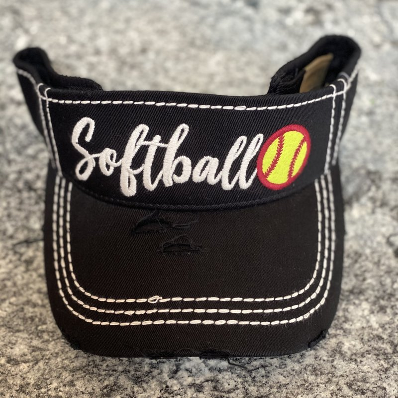 Hana Softball Vintage Black Visor