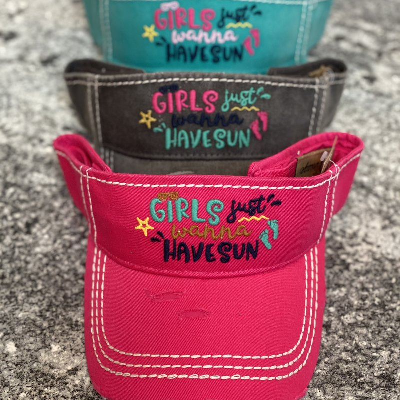 Hana Girls Just Wanna Have Sun Vintage Visor (3 Colors)