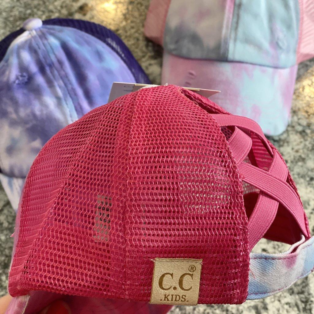 Hana Girls CC Tie Dye Pony Tail Hat