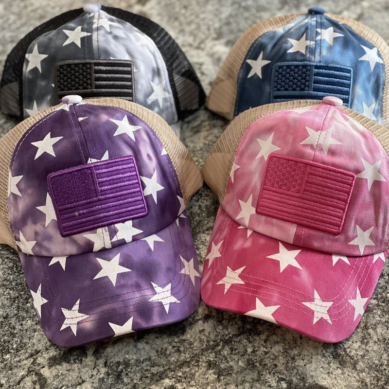 Hana Girls CC Star USA Pony Tail Hat