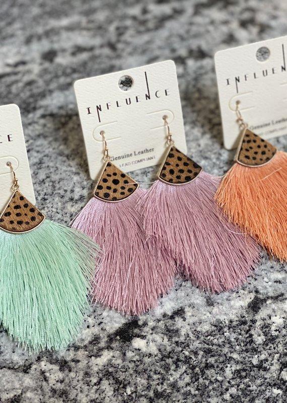MYS Summer Leopard Tassle Earrings