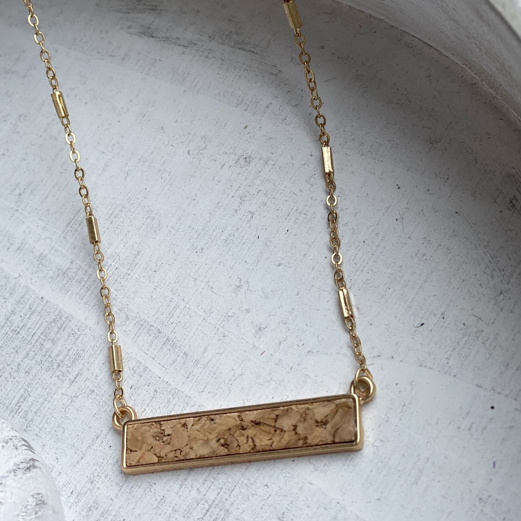 MYS Simple Cork Pendant Necklace