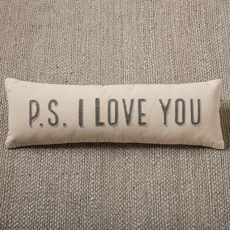 Mud Pie Mud Pie PS I Love You Pillow
