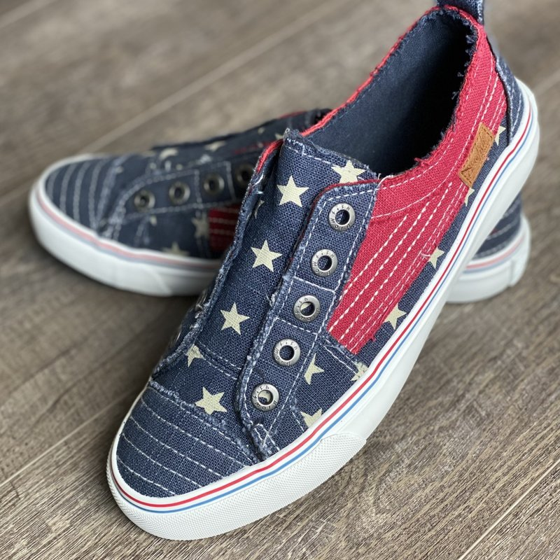 Blowfish Blowfish Play Navy Red Stars Shoes (7-11)