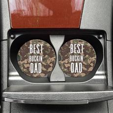 Mugsby Best Buckin' Dad Car Coaster Set