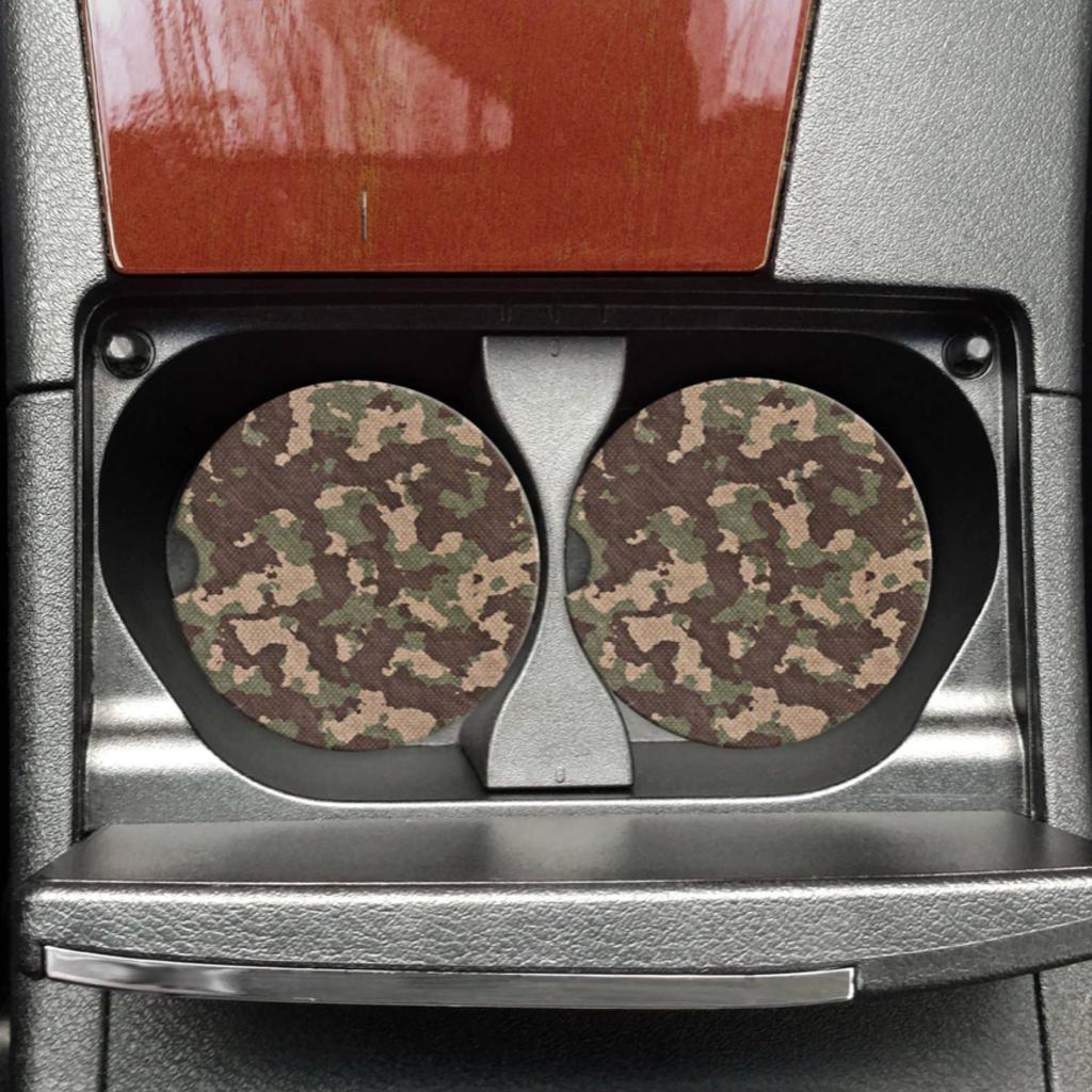 Mugsby Camo Car Coaster Set