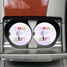 Mugsby You Go Girl Car Coaster Set