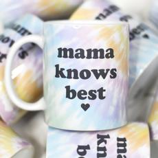 Mugsby Mama Knows Best Tie Dye Mug