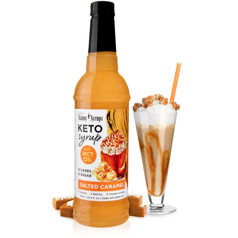 Skinny Mixes Keto Salted Caramel Syrup with MCT Oil