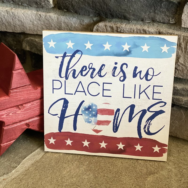 """Kindred Hearts 10""""x10"""" No Place Like Home Sign"""