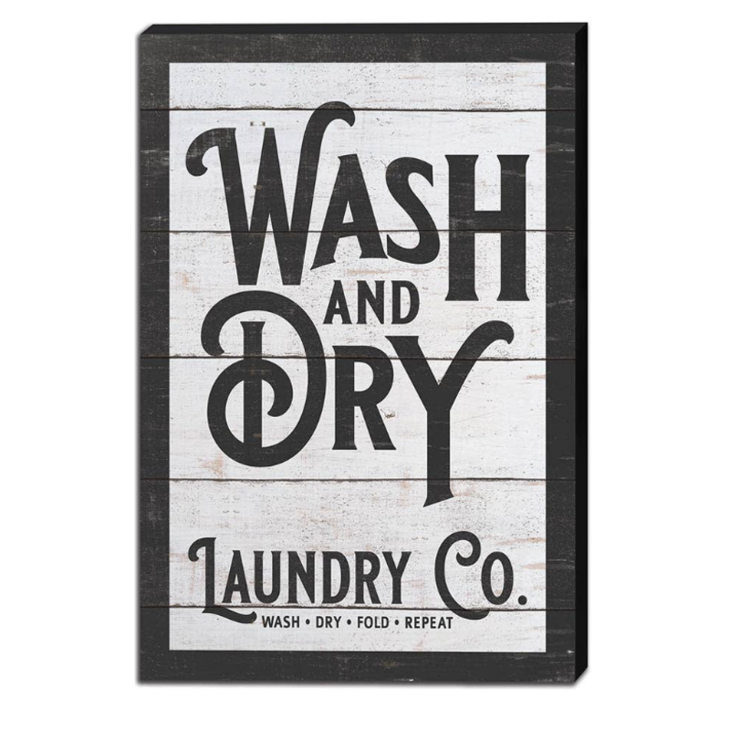 """Kindred Hearts 12"""" x 18"""" Wash & Dry Laundry Co Sign"""