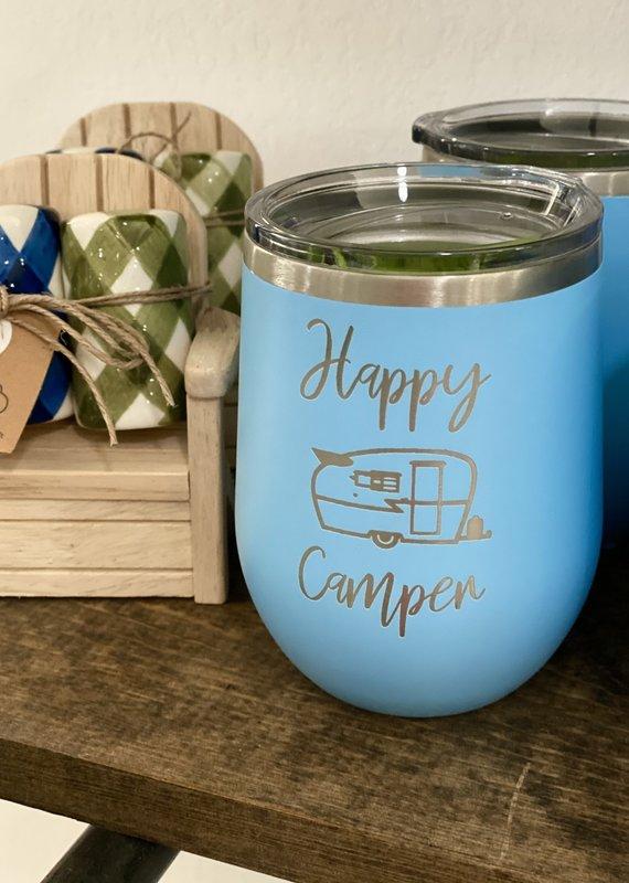 Driftless Studios 12oz Happy Camper Wine Tumbler