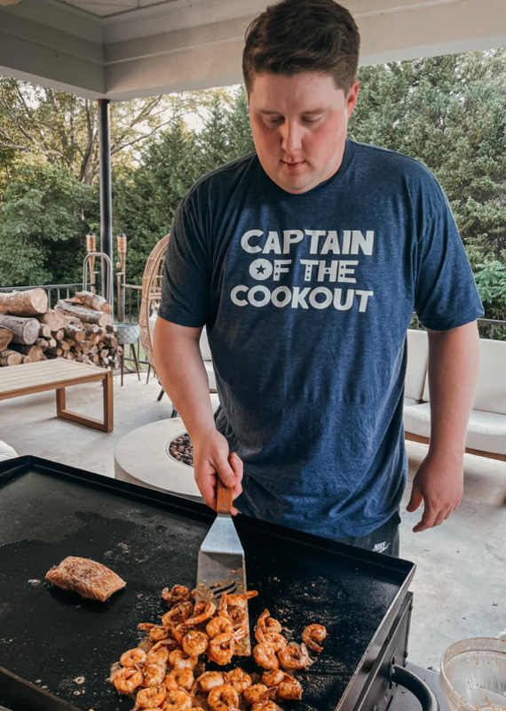 Alabama Threads Navy Captain of the Cookout Tee (M-3XL)