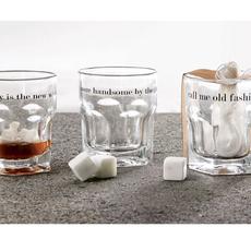 Mud Pie Mud Pie Whiskey Glass & Stone Set