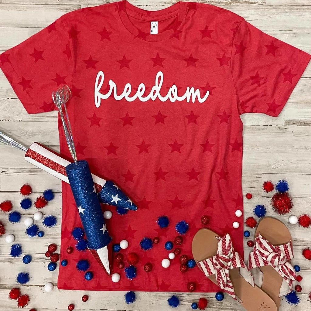 Bella Canvas Red Freedom Stars Tee (S-3XL)