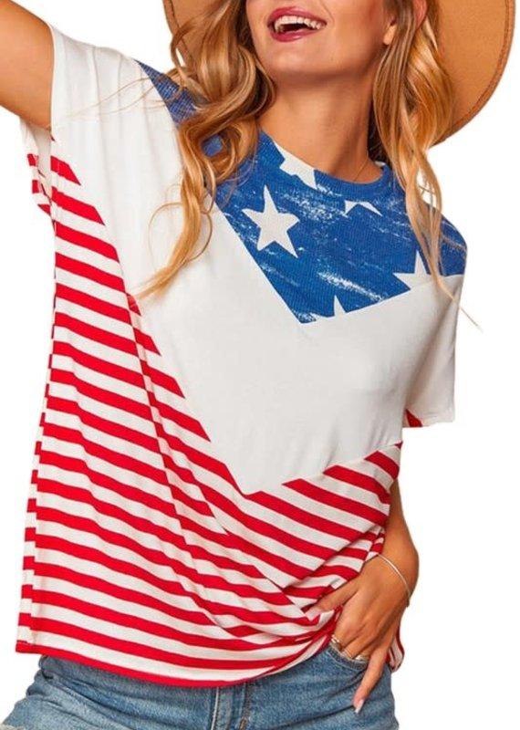 Haptics American Flag Chevron Top (2XL & 3XL Only)