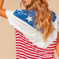 Haptics American Flag Chevron Top (S-3XL)