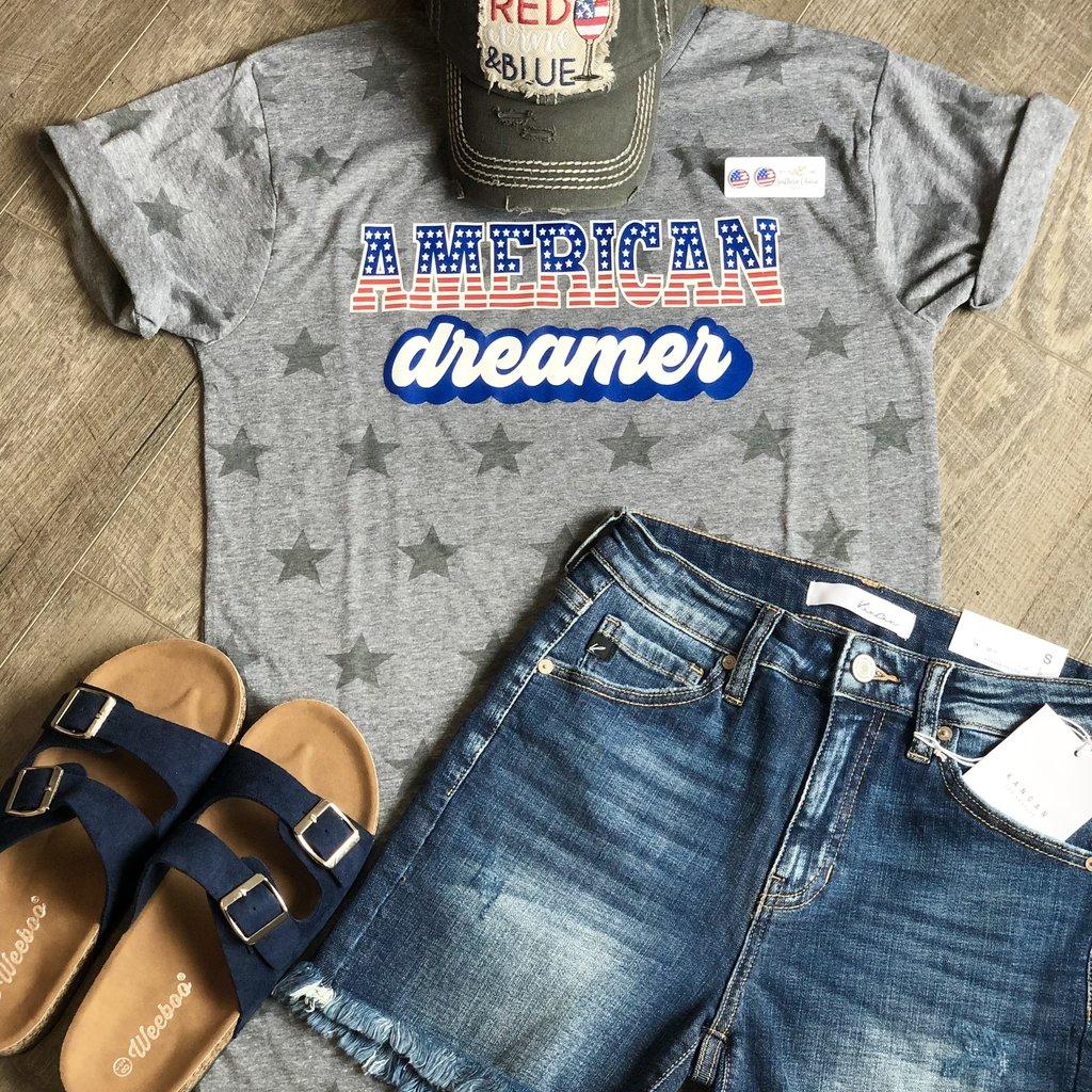 Code Five American Dreamer Grey Star Tee (S-3XL)