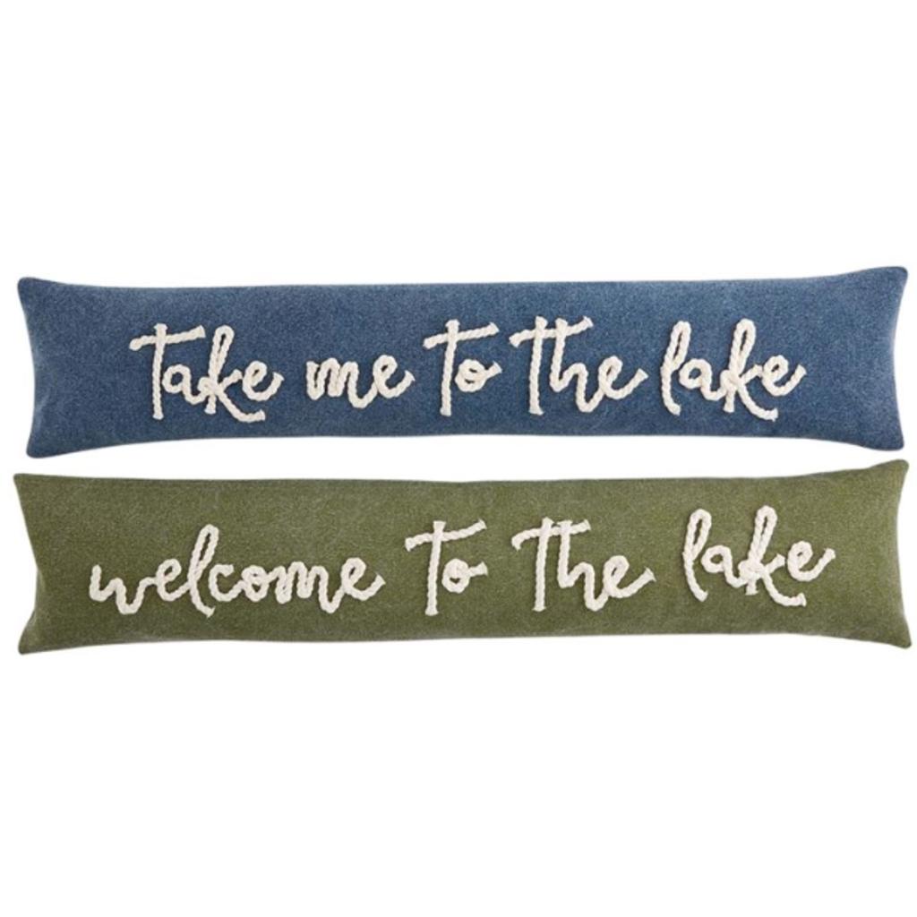 Mud Pie Lake Rope Skinny Pillows